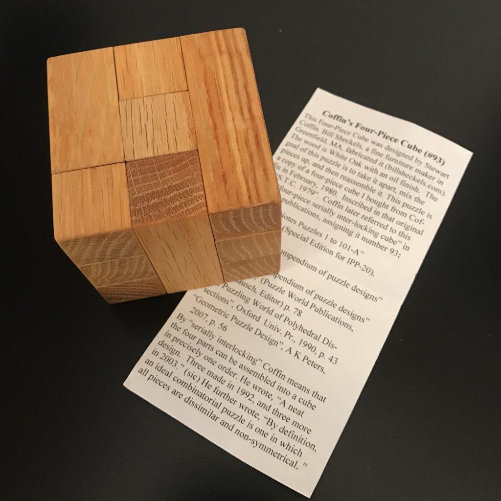 Stewart Coffin's Four Piece Interlocking Cube