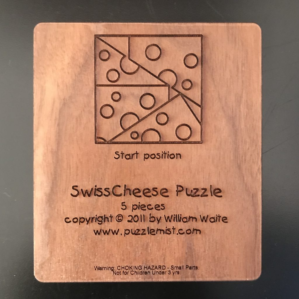 Swiss Cheese Packing Puzzle by William Waite