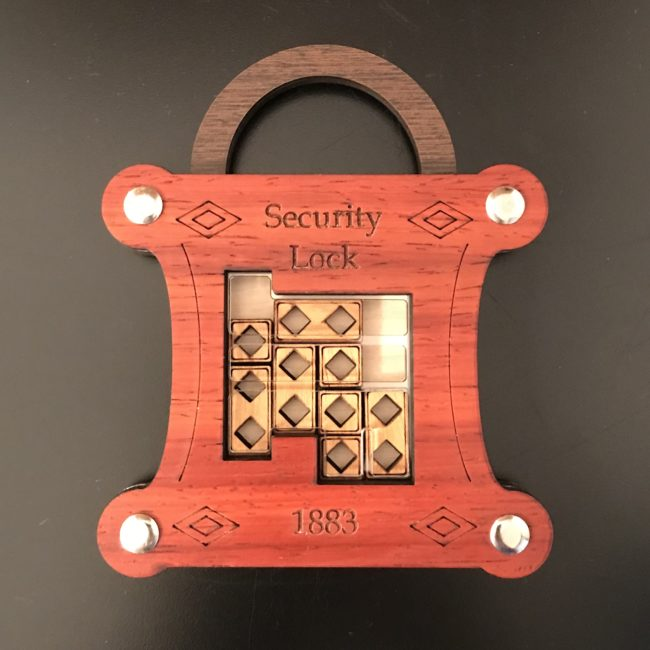 Security Lock puzzle lock designed by Liang-Jen Wu