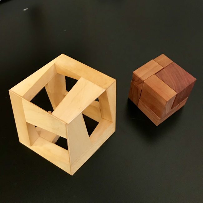 OMPIC One Minute Puzzle In Cube designed by Vinco and exchanged at IPP37 by James Dalgety