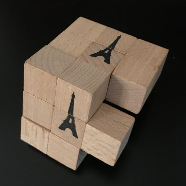 Eiffel Six Cube Puzzle designed and made by Alistair Morris