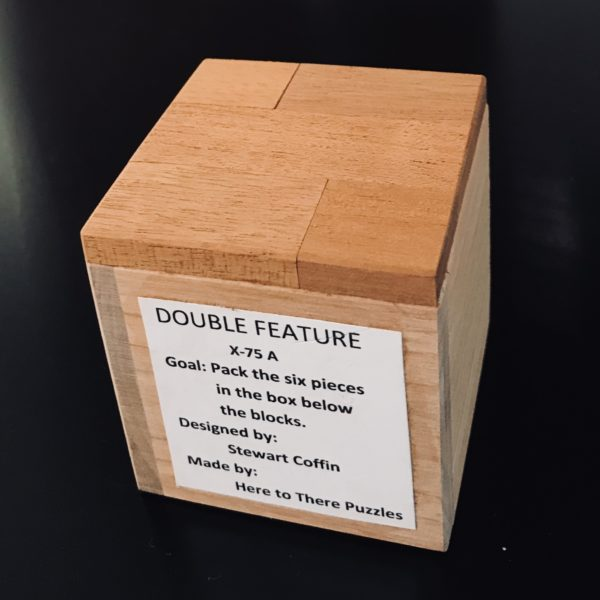 Double Feature Stewart Coffin Design #75A Exchanged by Saul Bobroff at IPP37 in Paris