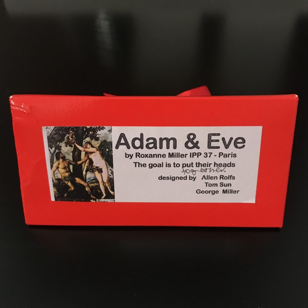 Adam & Eve Puzzle exchanged by Roxanne Wong at IPP37 Paris, designed by Allen Rolfs, George Miller & Tom Sun