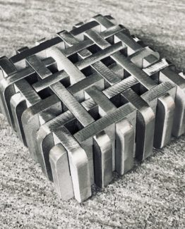 dirty dozen interlocking burr puzzle designed by Jerry Loo and made from stainless steel